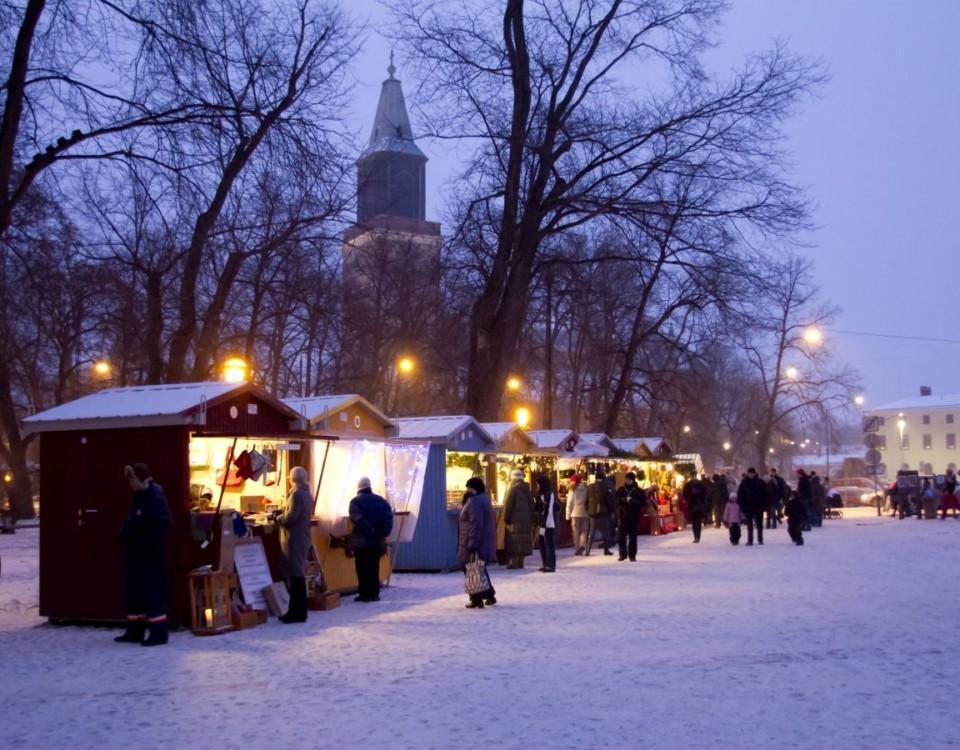 Julmarknad på Gamla Stortorget i Åbo