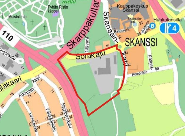 kartskiss över åbostadsdelen skansen