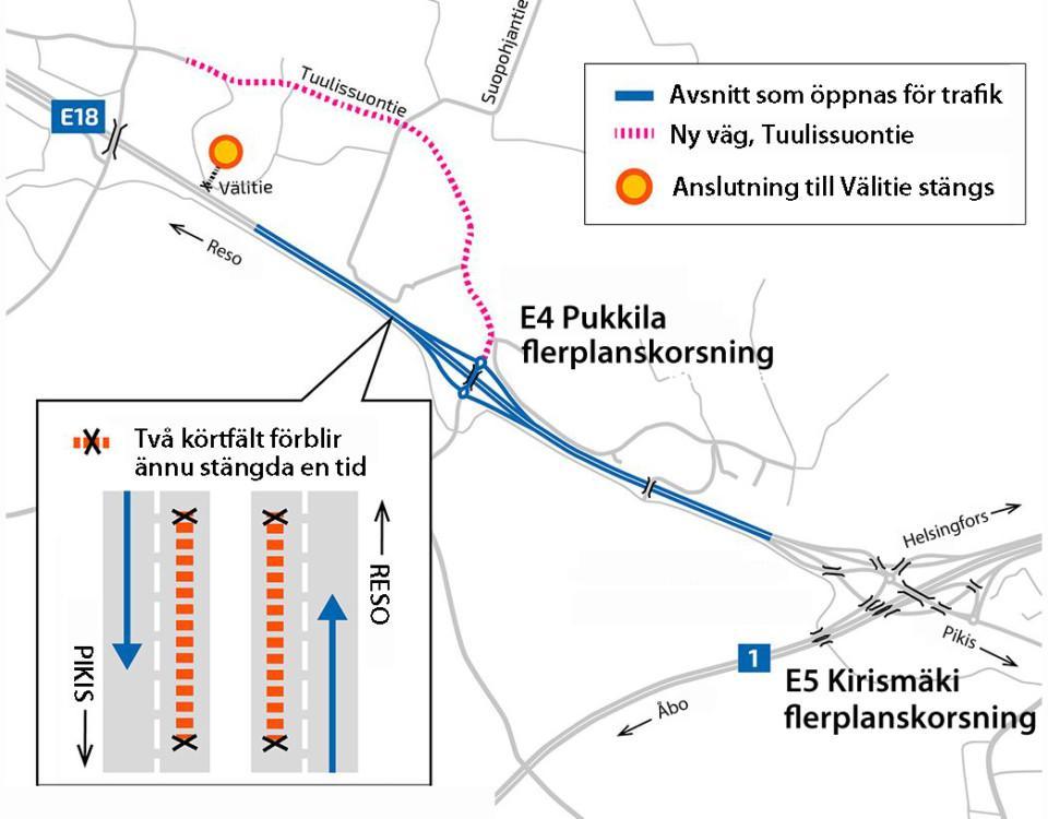 Karta över Åbo omfartsväg