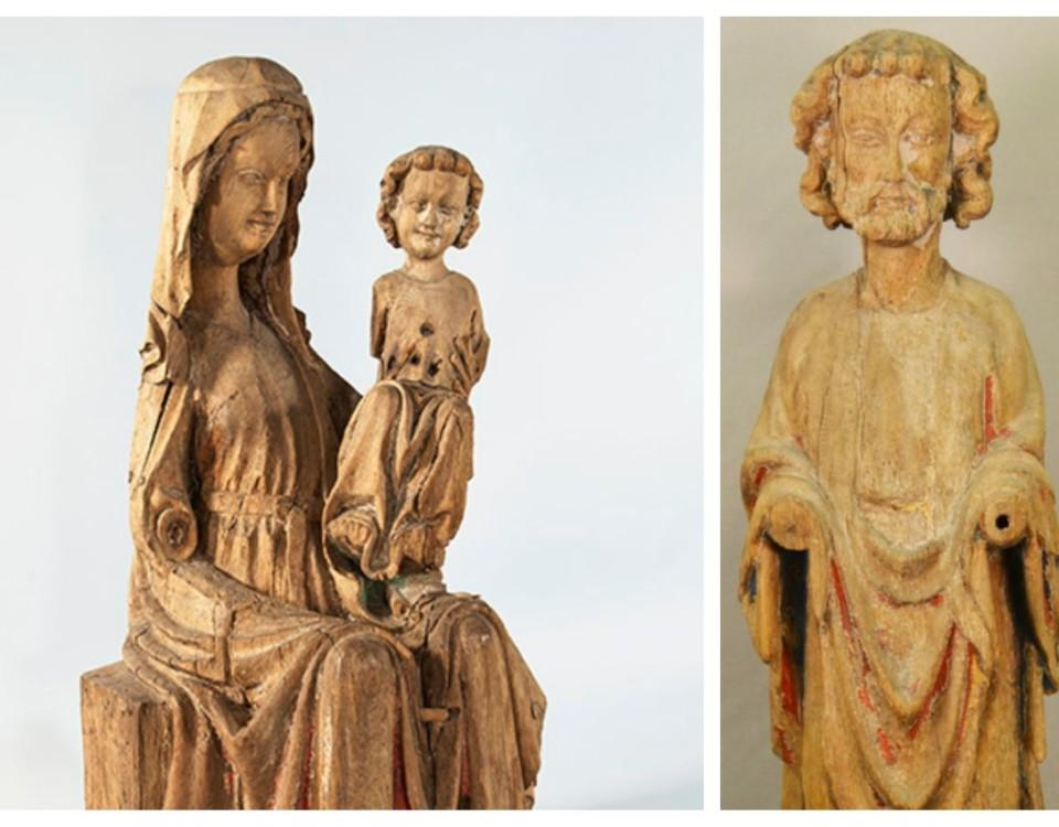 Medeltida träskulpturer