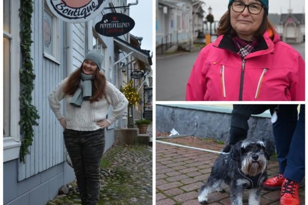 Två kvinnor och en hund.