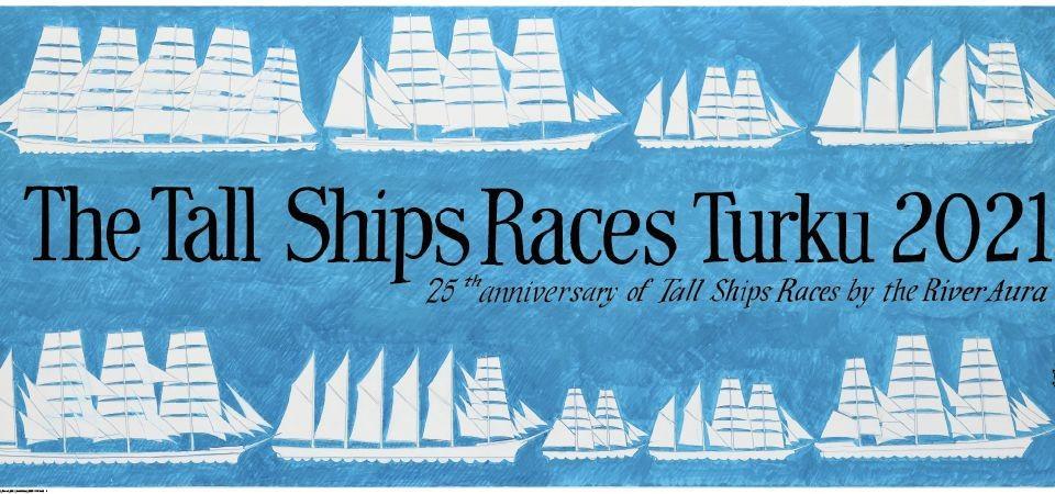 En affisch med segelfartyg.
