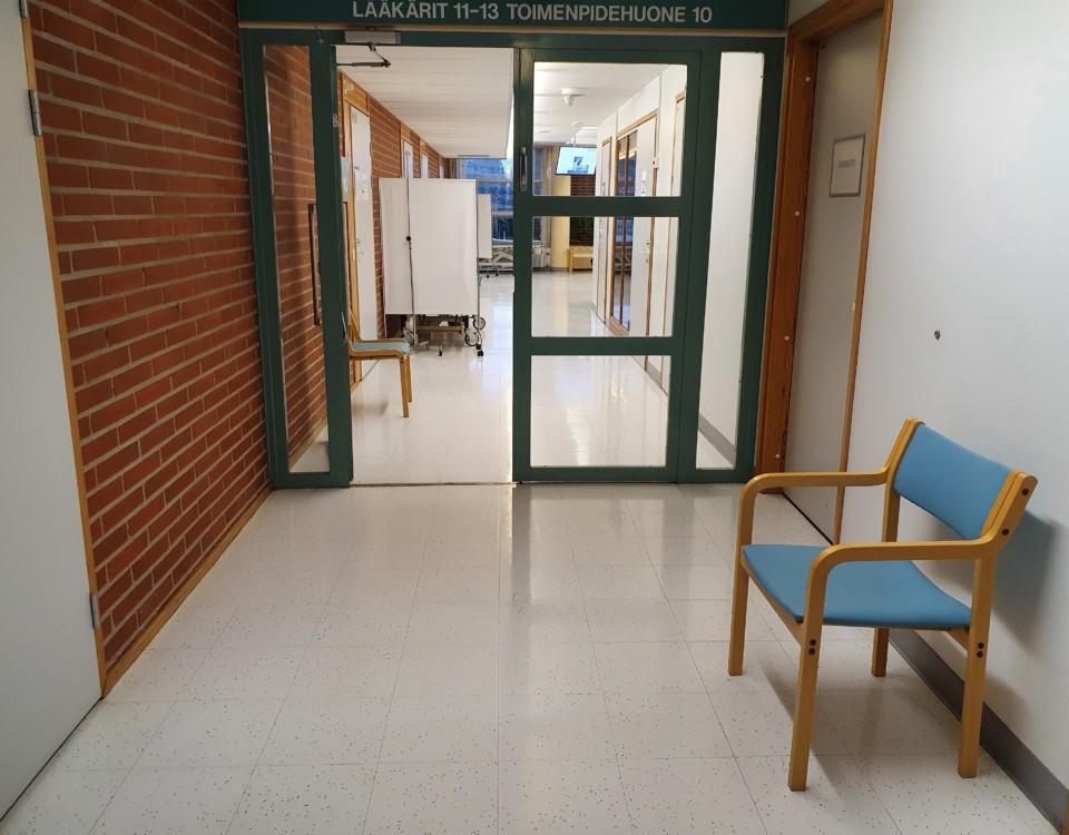 Ett väntrum på en hälsostation.