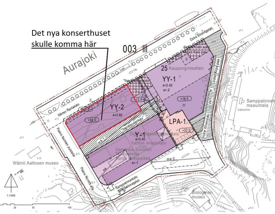 Plan för nya konserthuset i Åbo