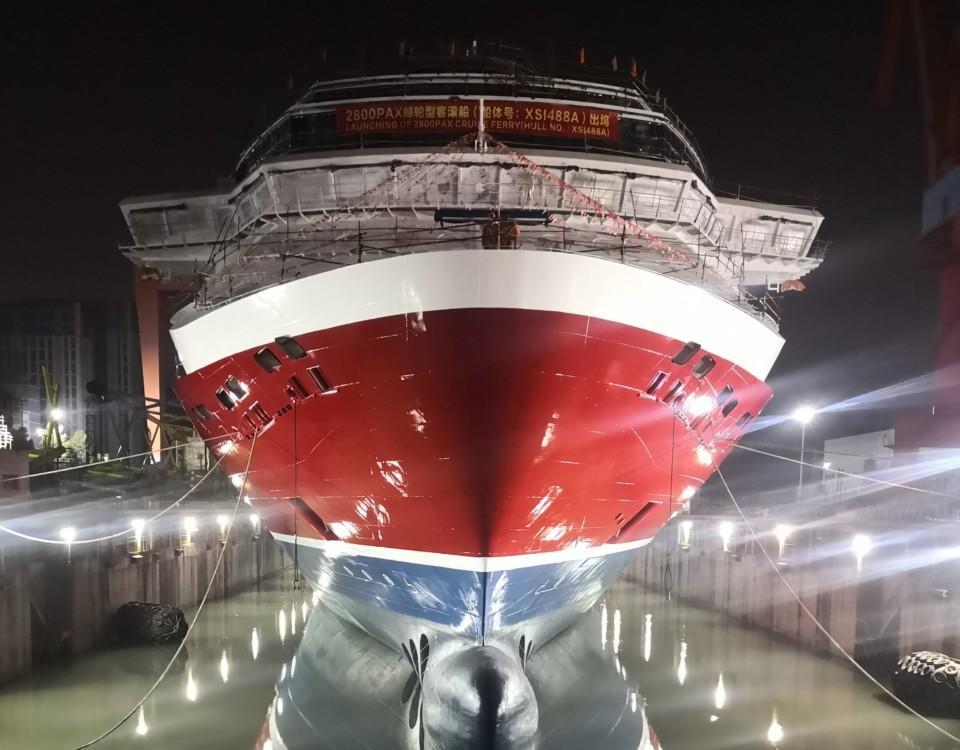 Ett fartyg i en docka