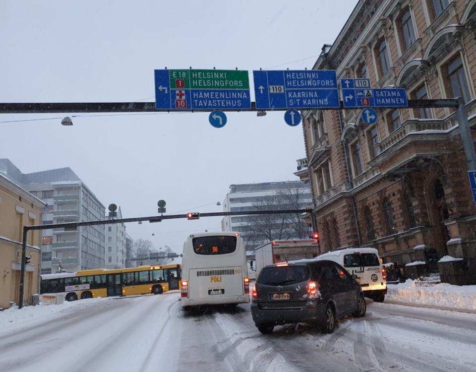 buss i trafik