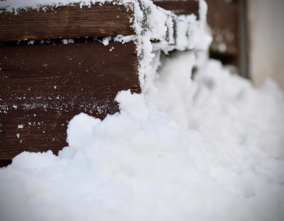 Snö och is.