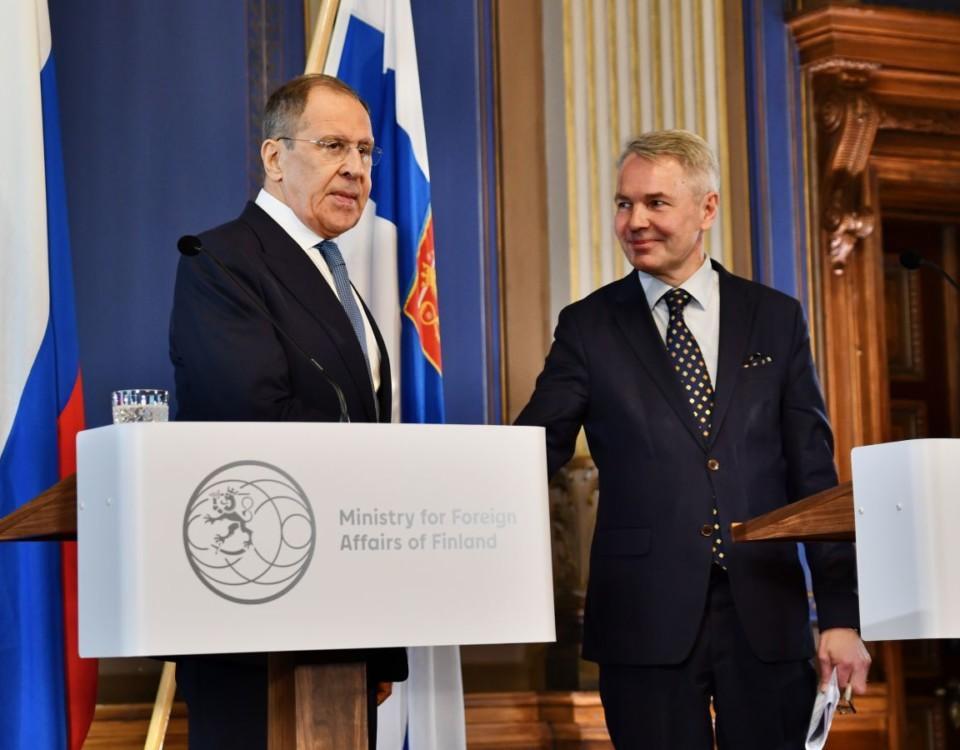 Sergej Lavrov och Pekka Haavisto