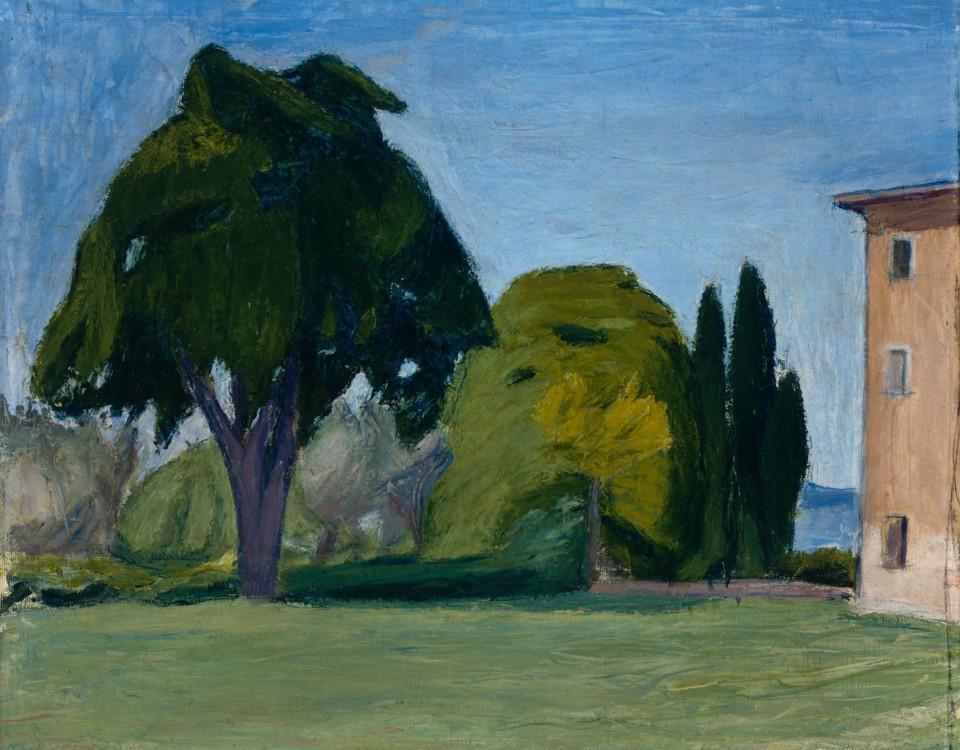 En oljemålning föreställande ett landskap.