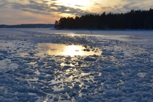 en farled med is