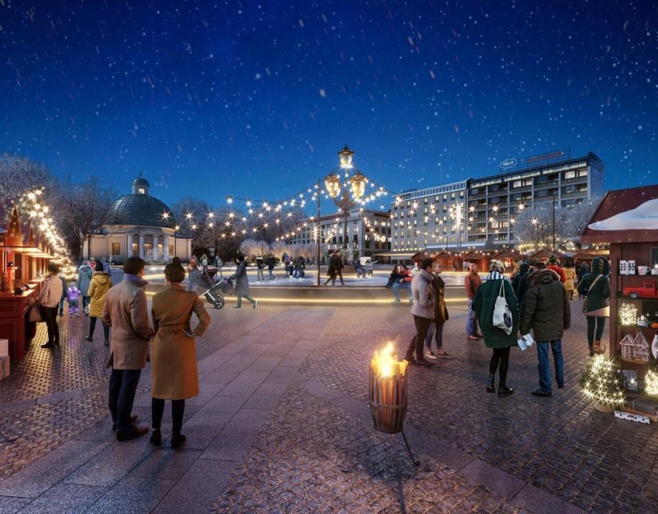 Arkitektvision om nya Salutorget i Åbo