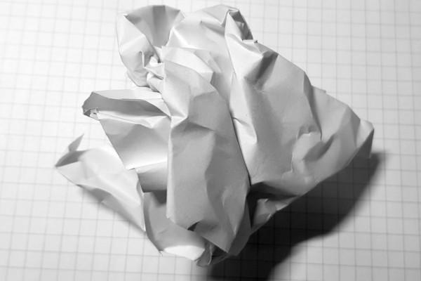 Skrynkligt papper