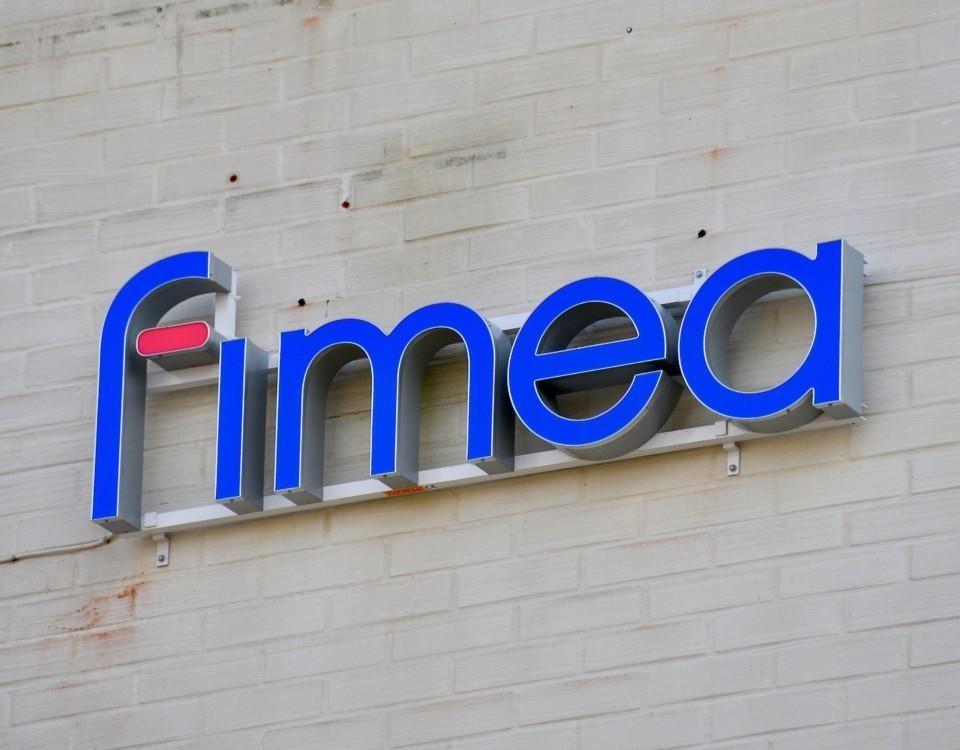 en skylt med ordet: Fimea