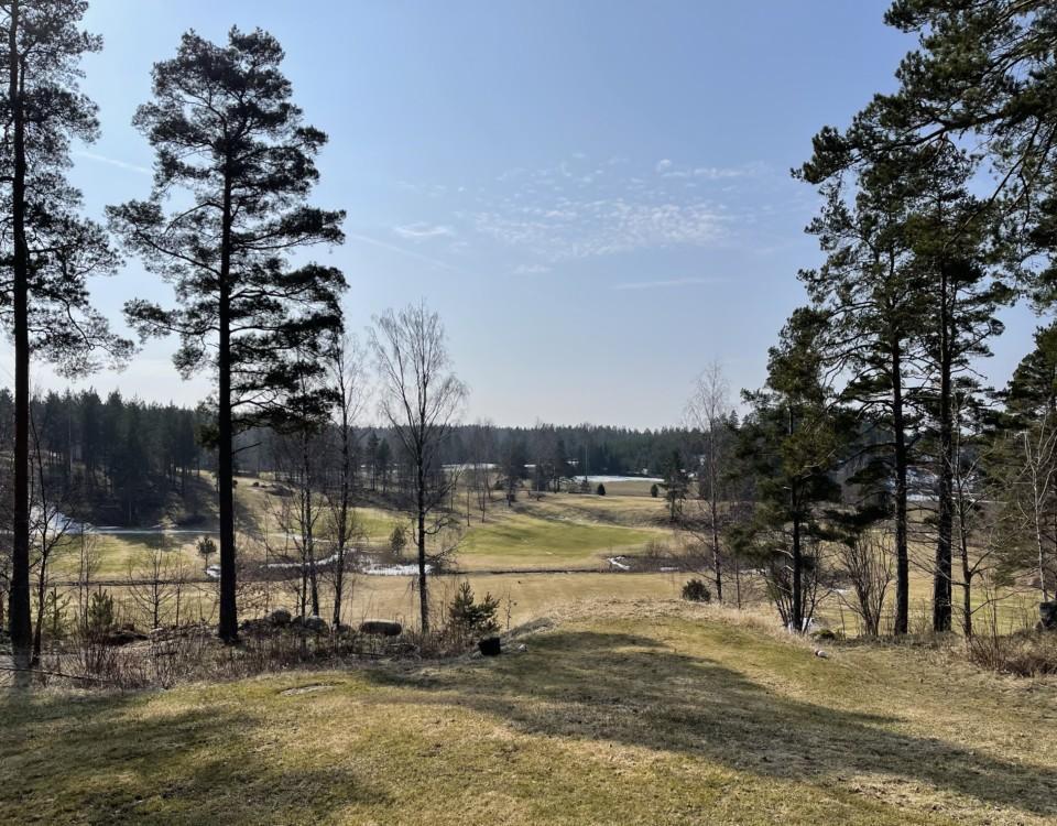 golfbana, tidig vår