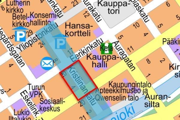 Gatukarta över Åbo