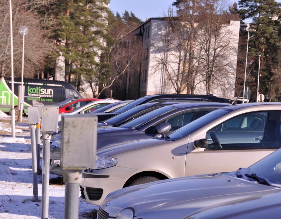 en parkeringsplats