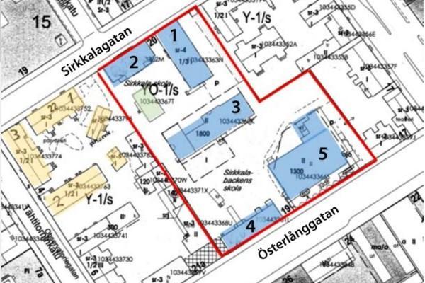 Karta över stadskvarter