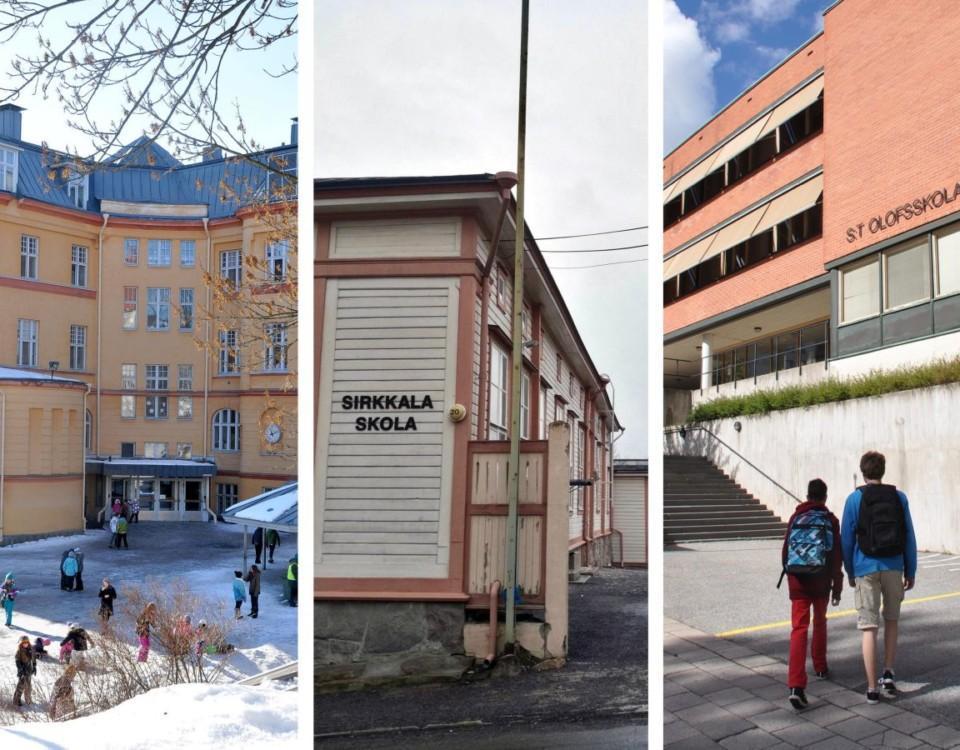 Tre skolor i Åbo