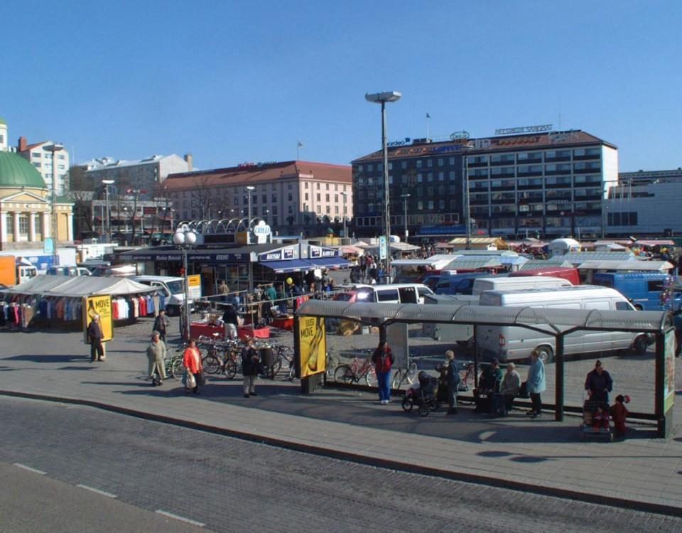 Torghandel på Salutorget i Åbo