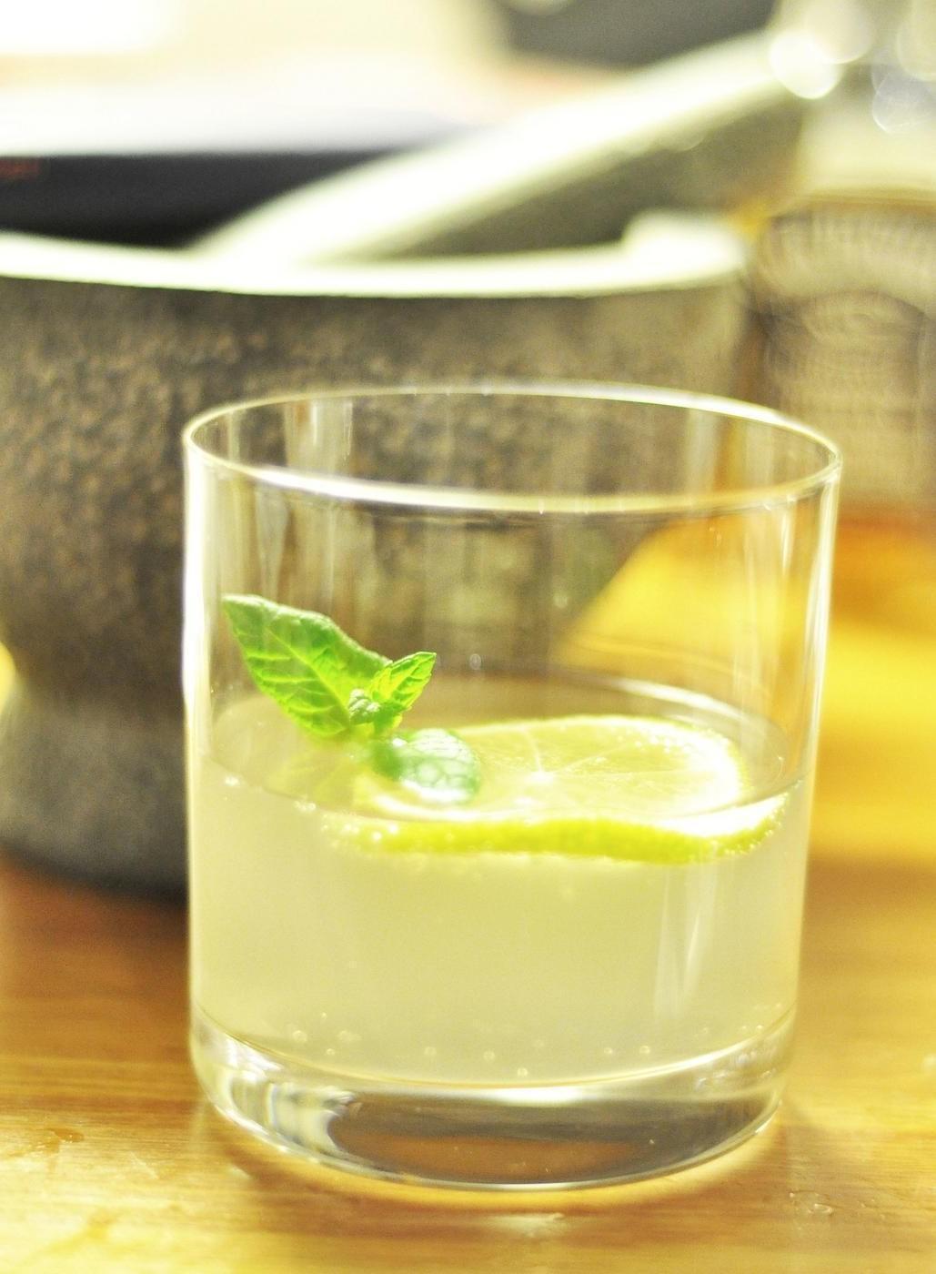 Glas med dryck.