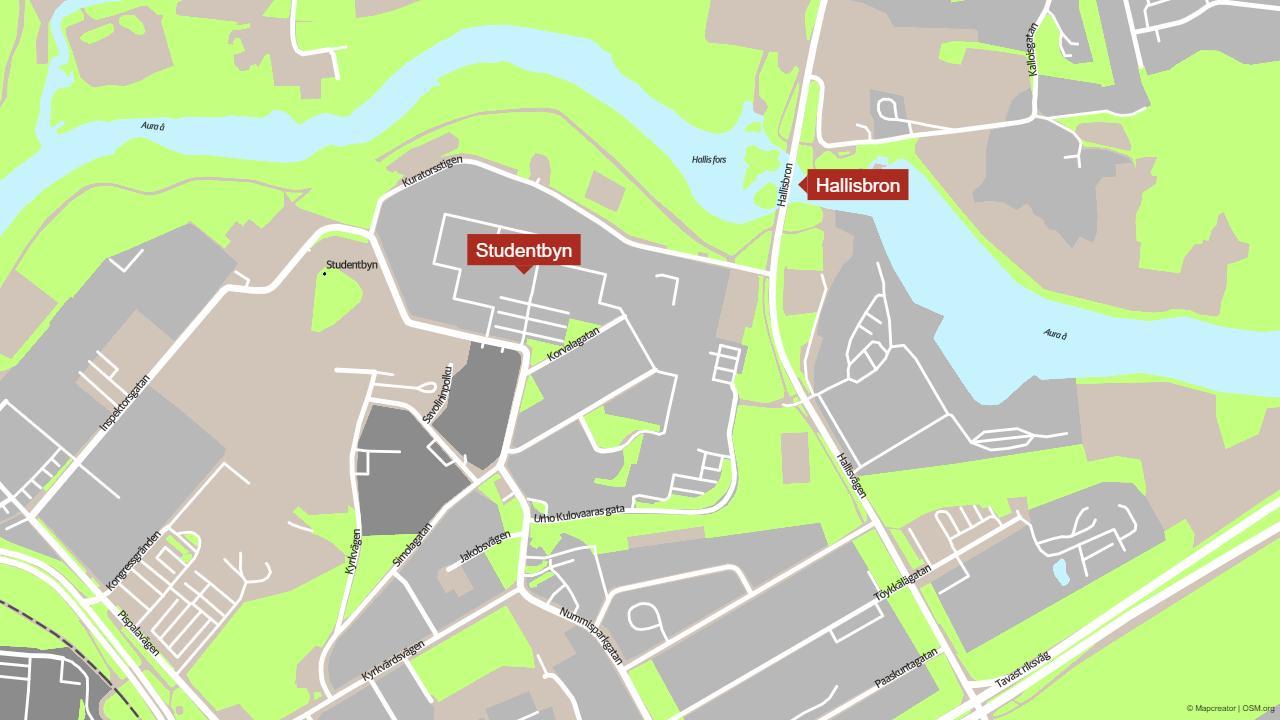 Karta över Hallisbron