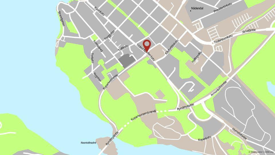 Karta över Nådendal.