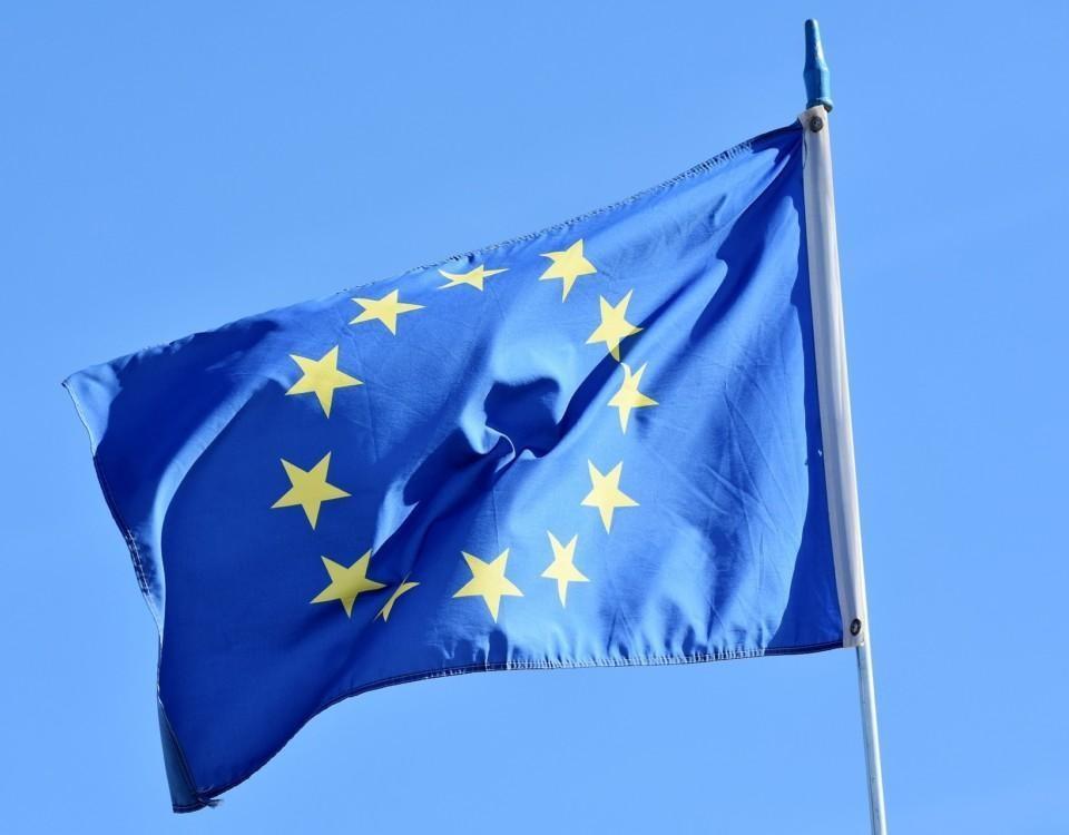 Flagga med stjärnor.