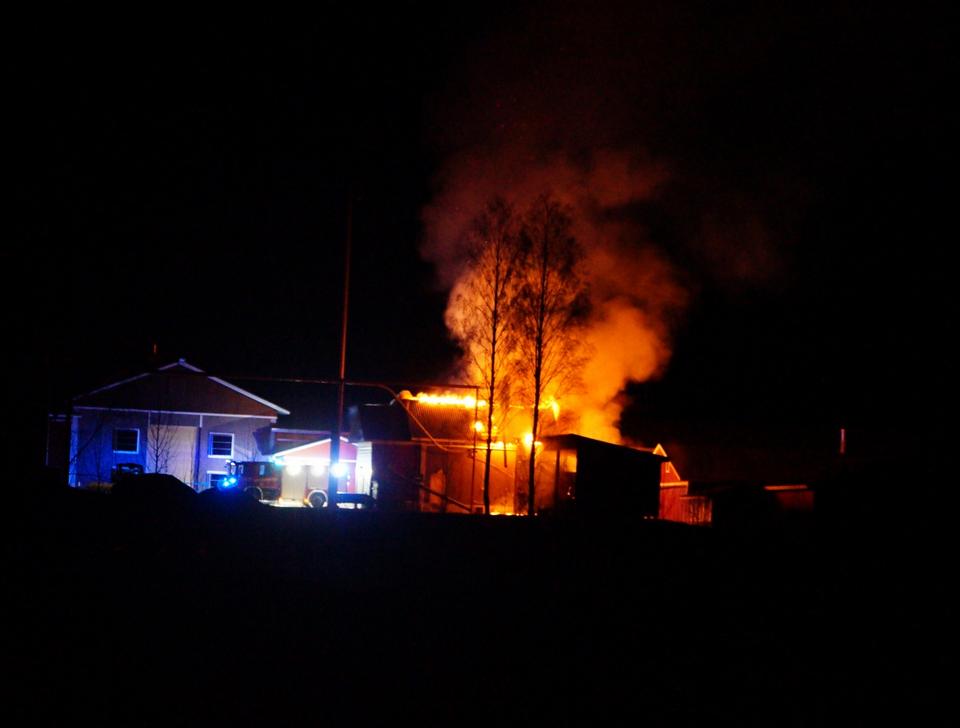 en stor husbrand