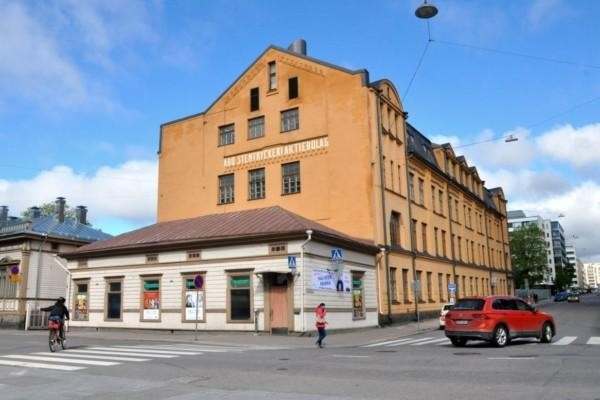 Gamla trä- och stenhus i Åbo