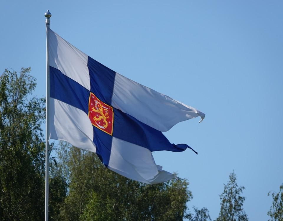 en flagga
