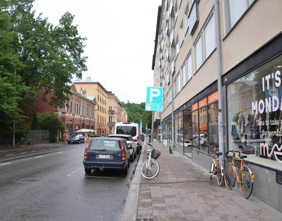 En gata i centrum.