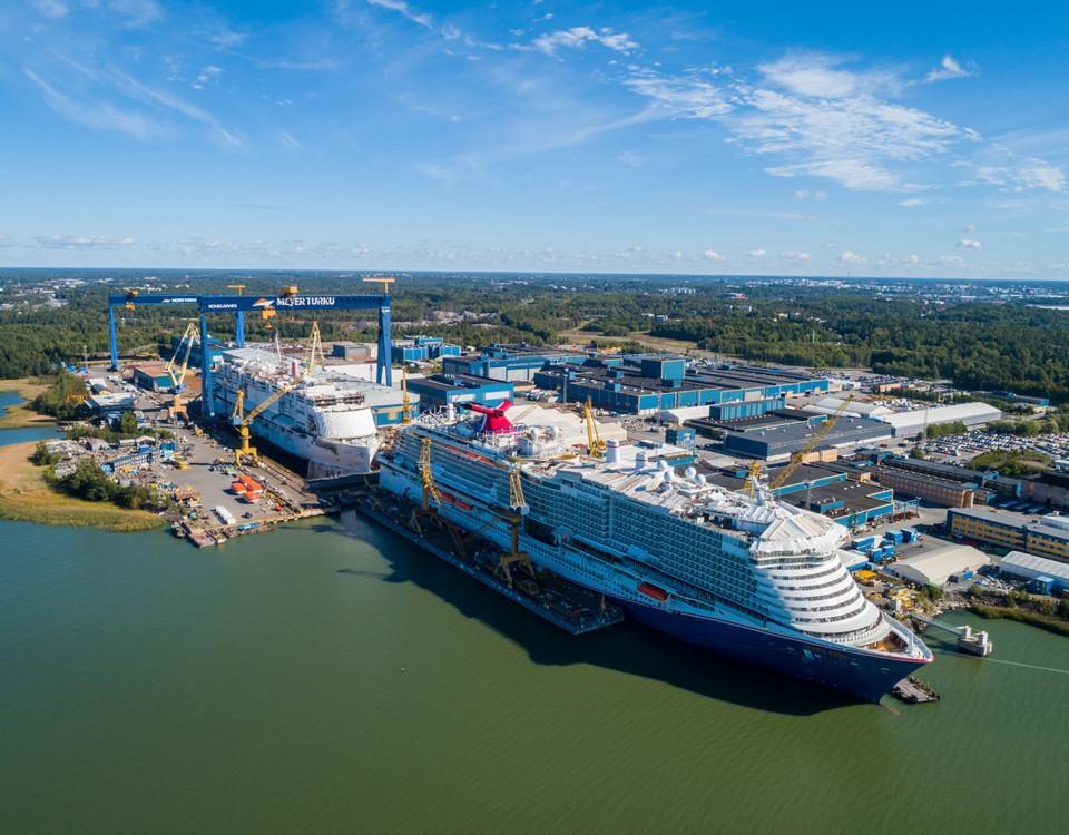 Kryssningsfartyg byggs på varv