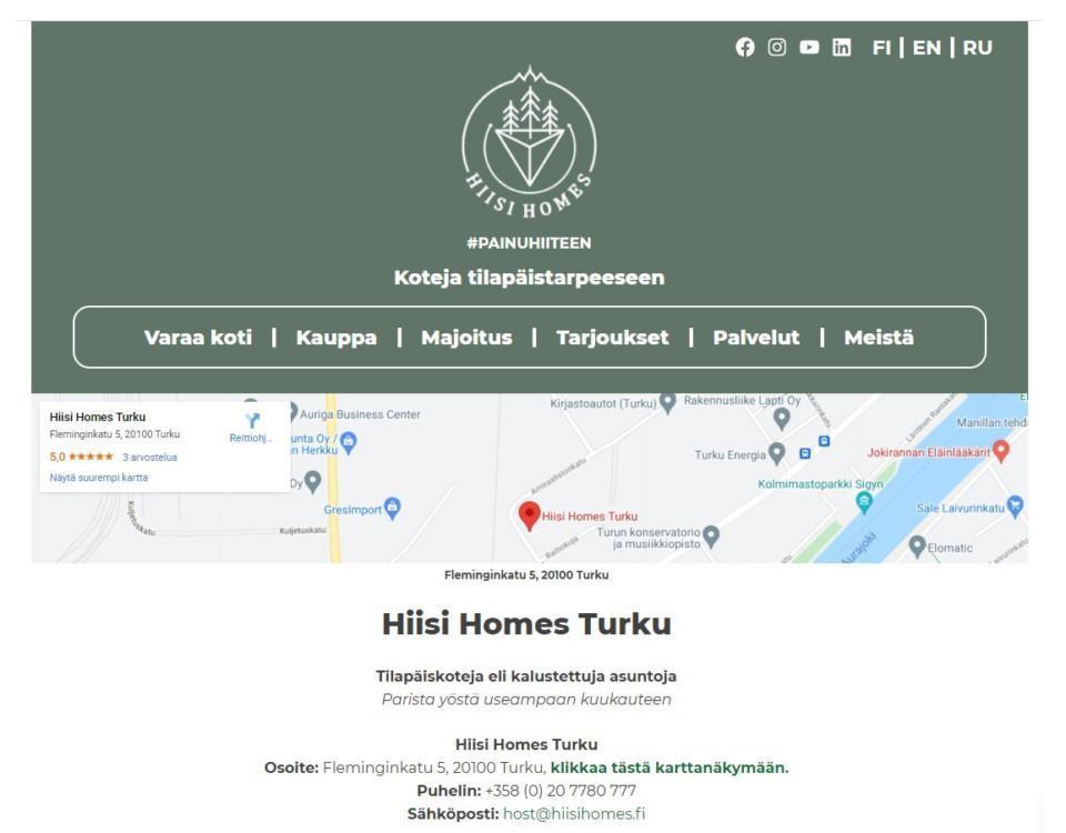 Skärmdump av webbsida