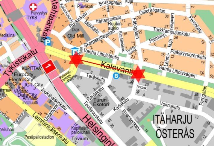 karta över asfalteringsarbete