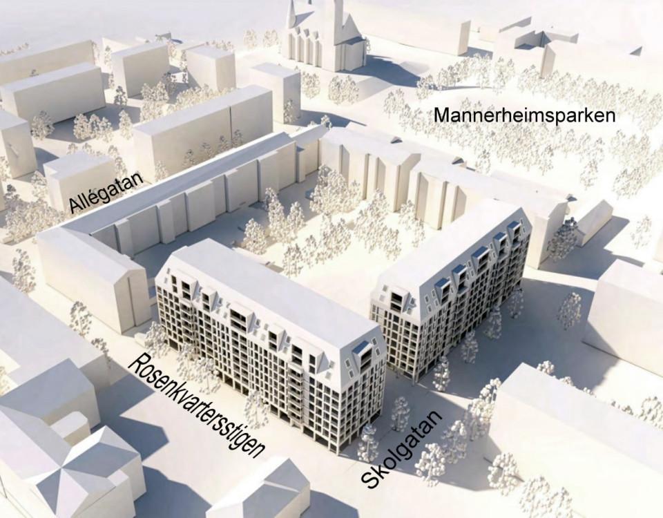 Vision av hus höghus kunde se ut