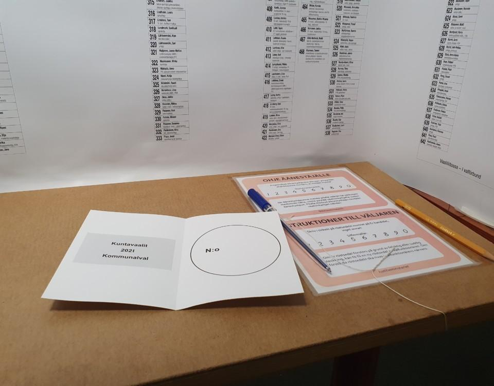 röstesedel, vit papperslapp på ett bord