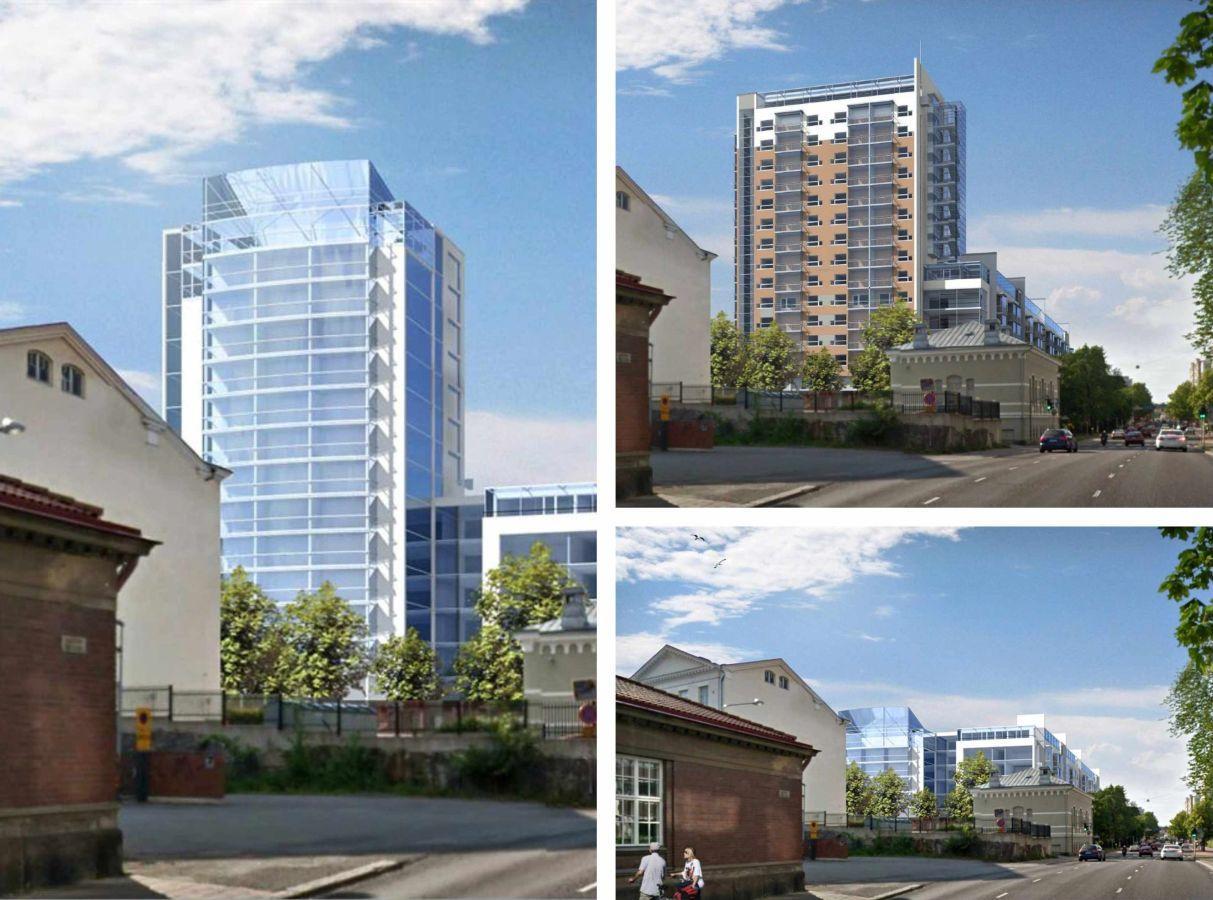 Vision av hus olika höghus kunde se ut