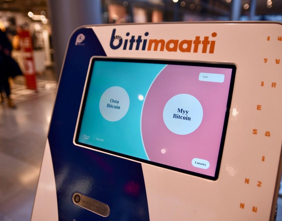 En bitcoinautomat i ett köpcenter.