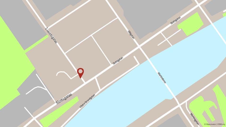 Karta över en del av åbo.
