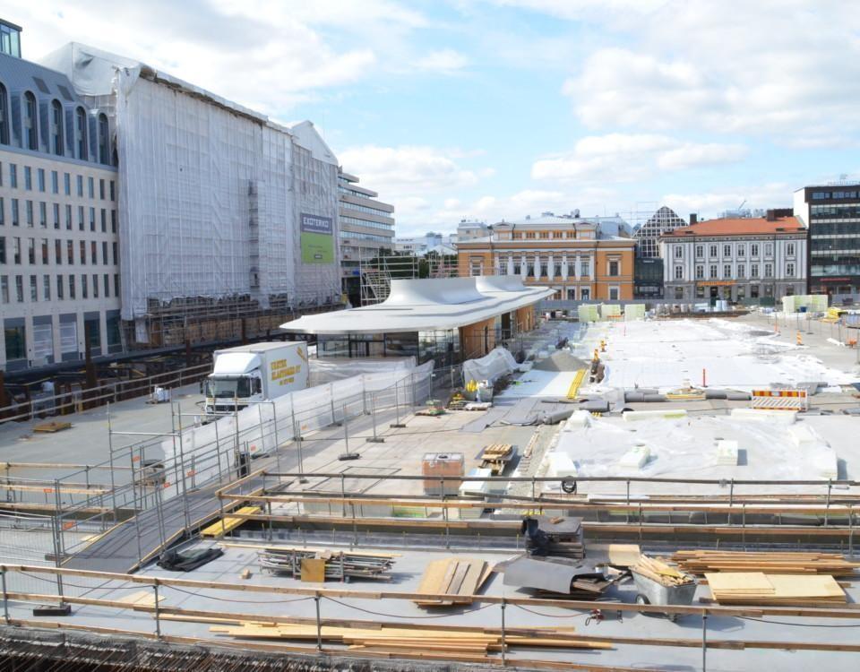 Byggnadsarbete på Salutorget