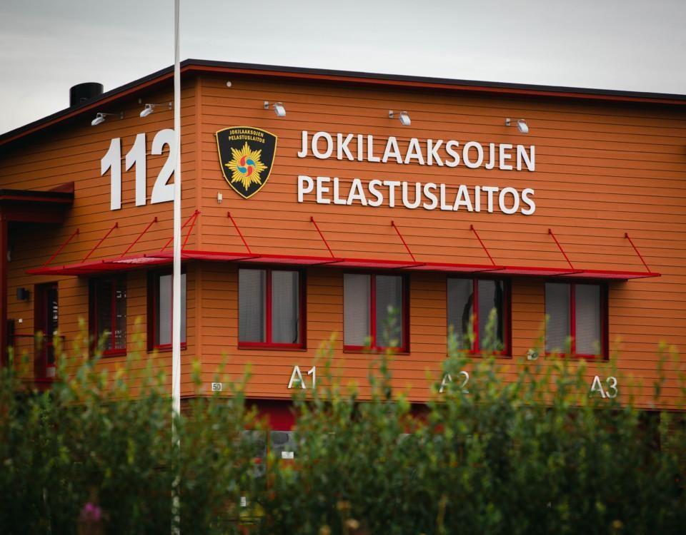 Bild på räddningsverkets byggnad i Kalajoki.