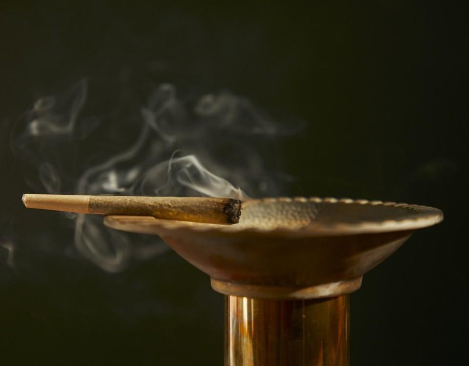 en marijuanacigarett