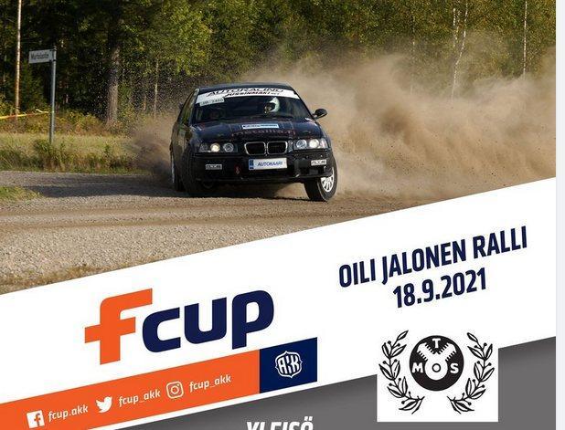 rallybil och reklam