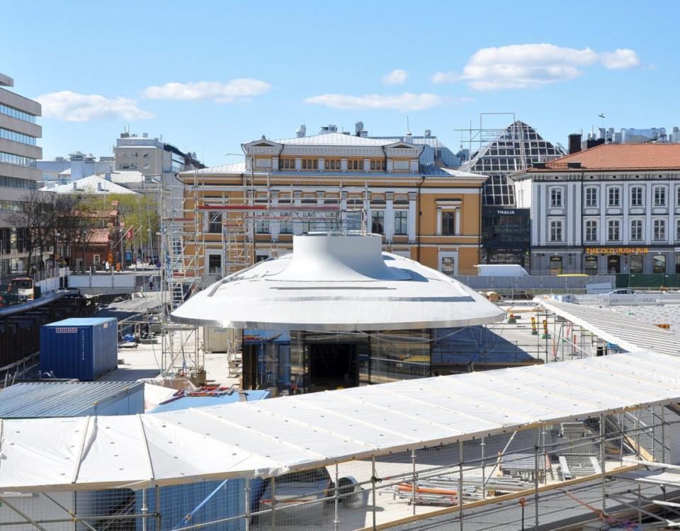 Salutorgets byggarbetsplats i Åbo