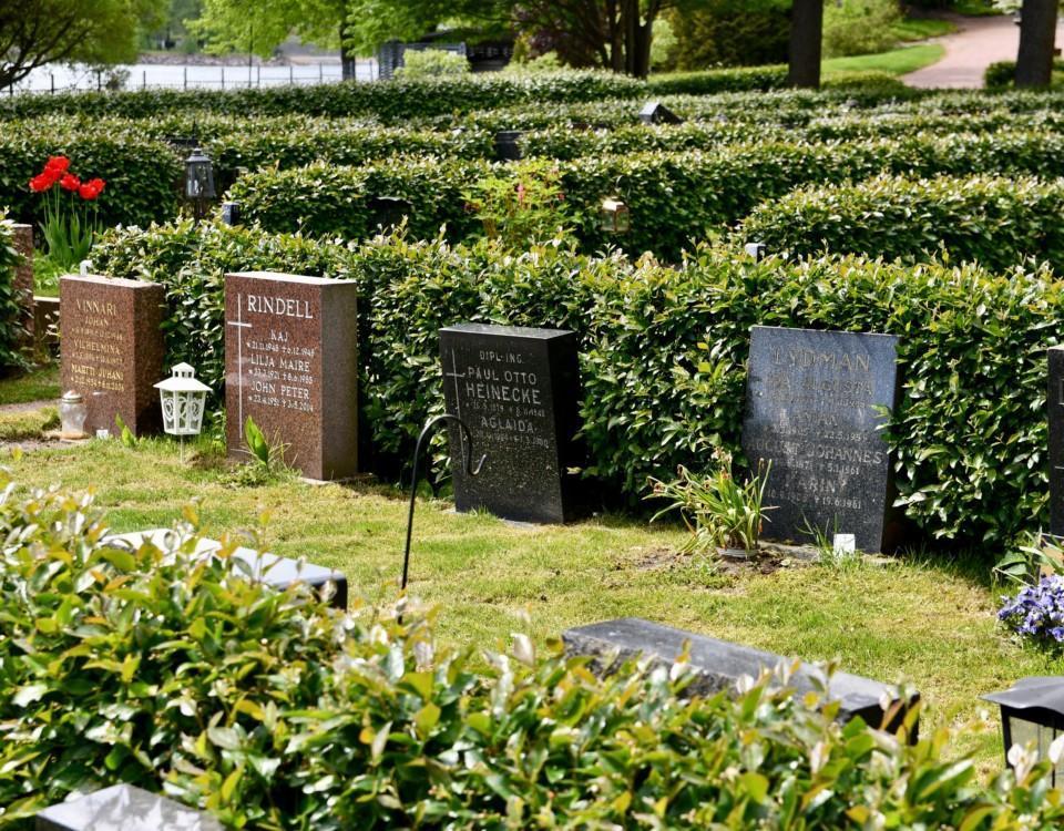 En begravningsplats.